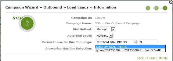 add new campaign7- goautodial