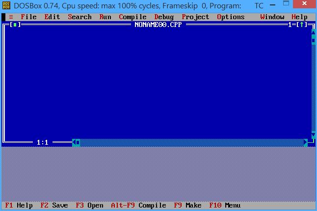 turbo c++ program editor