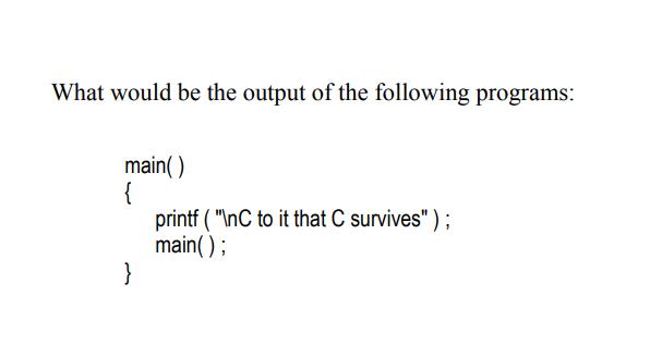 c function program example