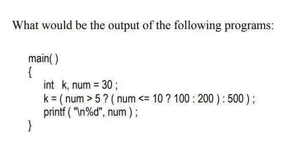 conditional operators c program example