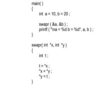 pointer c program example
