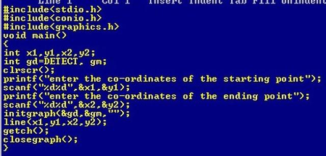 c graphics program