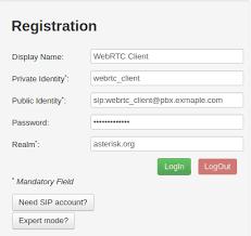 asterisk webrtc configuration