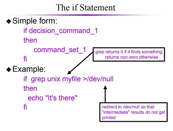 shell programming if statement