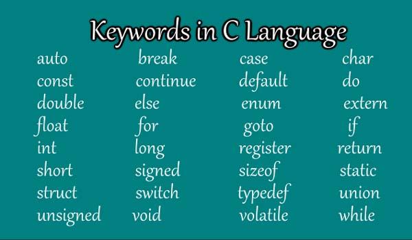 keywords-in-c-language