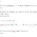 multiplication table program in c