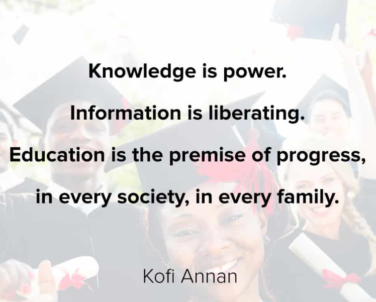 Knowledge is power. Information is liberating