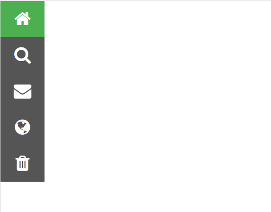bootstrap iconbar